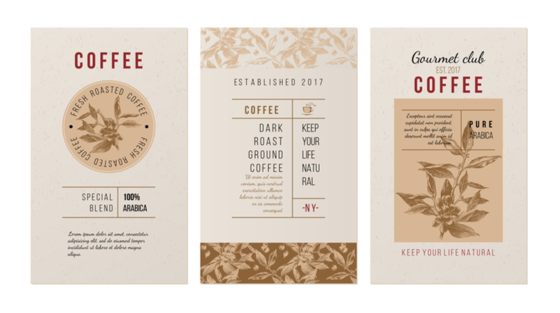 coffee packaging information